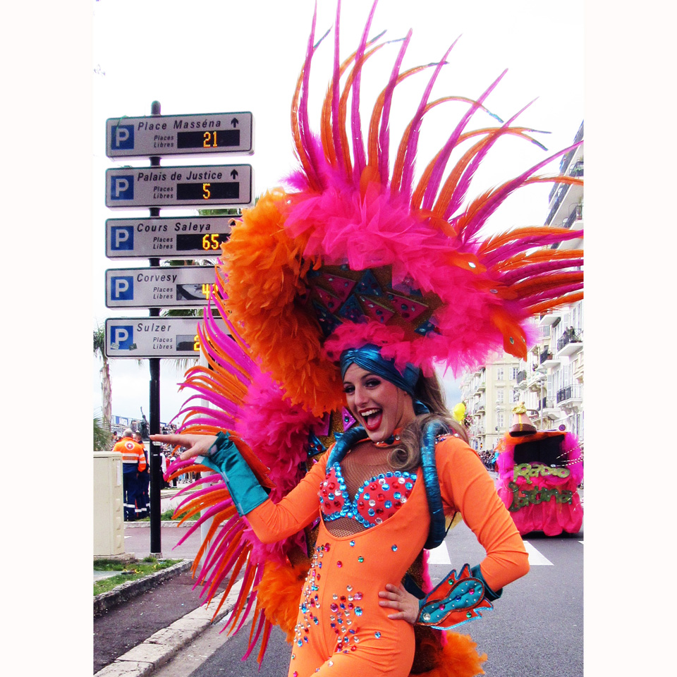 Illuminated Corso  16/02 and Battle of Flowers  17/02. Nice Carnival 2016. Corps et Danse Company , parade, Carnaval Latino, Latino dance
