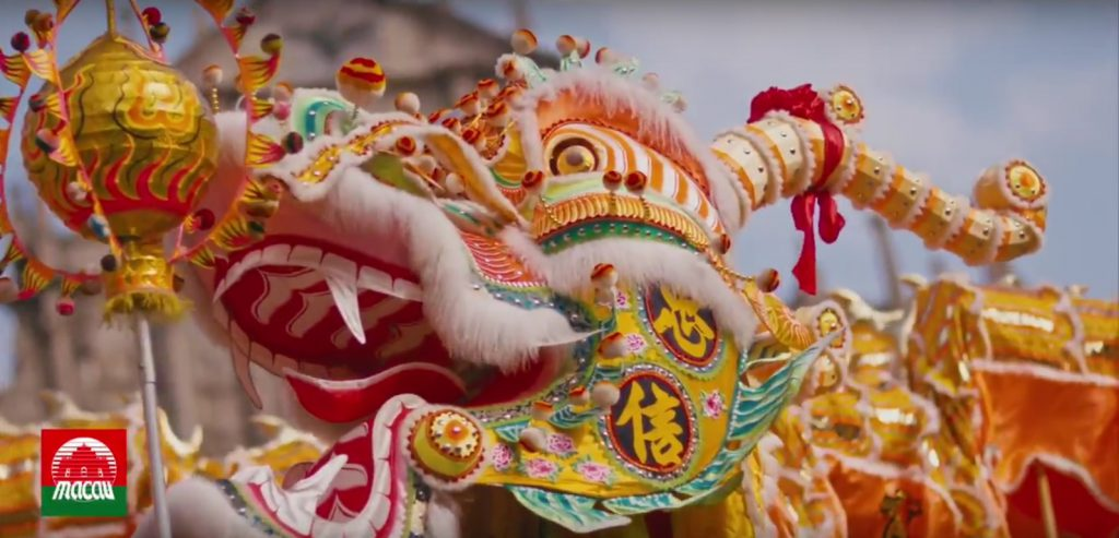 Video excerpt of the 2017 Chinese New Year Grand Parade  2017, at Macao !!! The Corps et Danse Company